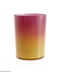 Art Glass:Other , AN AMERICAN WHEELING PEACH BLOW GLASS TUMBLER...