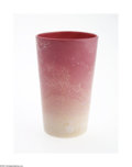 Art Glass:Other , AN AMERICAN AGATA 'WILD ROSE' GLASS TUMBLER...