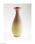 Art Glass:Other , AN AMERICAN BURMESE GLASS VASE...
