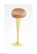 Art Glass:Other , AN AMERICAN ACID FINISH JACK-IN-THE-PULPIT BURMESE GLASS VASE...