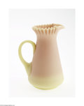 Art Glass:Other , AN AMERICAN ACID FINISH BURMESE GLASS PITCHER...
