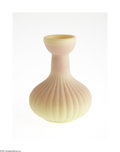Art Glass:Other , AN AMERICAN ACID FINISH BURMESE GLASS VASE...