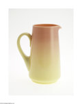 Art Glass:Other , AN AMERICAN GLOSSY FINISH BURMESE GLASS PITCHER...