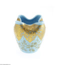 Art Glass:Other , A CZECHOSLOVAKIAN GILT AND ENAMELED GLASS VASE...