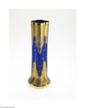 Art Glass:Other , A CONTINENTAL BLOWN GLASS AND ENAMEL VASE...