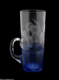 Art Glass:Other , AN AMERICAN THREADED GLASS MUG...