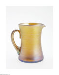 Art Glass:Tiffany , AN AMERICAN FAVRILE GLASS PITCHER...