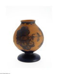 Art Glass:Other , A FRENCH ETCHED AND OVERLAID GLASS VASE...