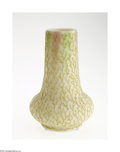 Art Glass:Other , AN ENGLISH CORALENE SATIN GLASS VASE...