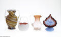 Art Glass:Other , A GROUP OF GLASS ITEMS... (4 Items)