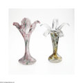 Art Glass:Other , TWO GLASS VASES... (2 Items)