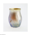 Art Glass:Tiffany , AN AMERICAN FAVRILE GLASS CABINET VASE...