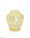 Art Glass:Webb, AN ENGLISH OVERLAID AND ETCHED GLASS VASE...