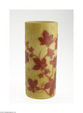 Art Glass:Webb, AN ENGLISH OVERLAID AND ETCHED GEM CAMEO GLASS VASE...