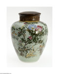 Decorative Arts, Continental:Other , A CHINESE CELADON GINGER JAR...