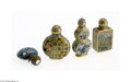 Decorative Arts, Continental:Other , FOUR CHINESE SNUFF BOTTLES... (4 Items)
