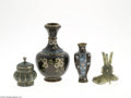 Decorative Arts, Continental:Other , A COLLECTION OF CHINESE CLOISONNE ITEMS... (4 Items)