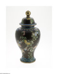 Decorative Arts, Continental:Other , A CHINESE CLOISONNE CAPPED URN... (2 )