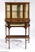 Furniture, AN ENGLISH EDWARDIAN HEPPLEWHITE-STYLE MAHOGANY VITRINE...