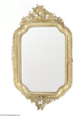 Decorative Arts, Continental:Other , A LOUIS XV STYLE GILT-FRAMED LOOKING GLASS...