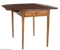 Furniture, AN ENGLISH CHIPPENDALE MAHOGANY PEMBROKE TABLE...