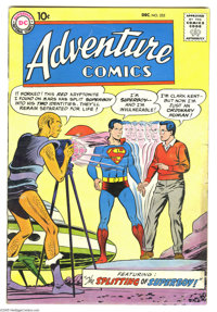 Adventure Comics #255 (DC, 1958) Condition: GD/VG. Superboy's first encounter with Red Kryptonite. Green Arrow appearanc...