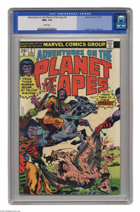 Adventures on the Planet of the Apes #2 (Marvel, 1975) CGC NM+ 9.6 White pages. Rich Buckler cover. George Tuska art. Th...