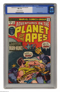 Bronze Age (1970-1979):Science Fiction, Adventures on the Planet of the Apes #3 (Marvel, 1975) CGC NM+ 9.6 Off-white to white. George Tuska art. This is currently t...