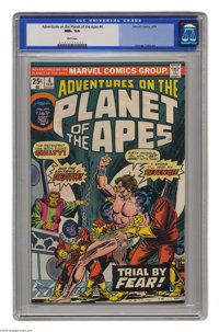 Adventures on the Planet of the Apes #4 (Marvel, 1976) CGC NM+ 9.6 White pages. George Tuska art. This is currently the...