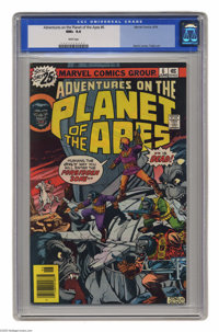 Adventures on the Planet of the Apes #6 (Marvel, 1976) CGC NM+ 9.6 White pages. Jim Starlin cover. George Tuska art. Thi...