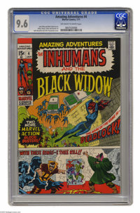 Amazing Adventures #4 (Marvel, 1971) CGC NM+ 9.6 Off-white to white pages. The Inhumans and the Black Widow appear. John...