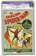 Silver Age (1956-1969):Superhero, The Amazing Spider-Man #1 (Marvel, 1963) CGC Apparent VF- 7.5Moderate (P) Off-white pages. For those readers who had caught...