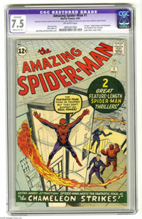 The Amazing Spider-Man #1 (Marvel, 1963) CGC Apparent VF- 7.5 Moderate (P) Off-white pages. For those readers who had ca...