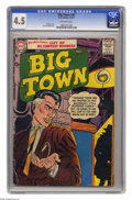 Silver Age (1956-1969):Miscellaneous, Big Town #45 (DC, 1957) CGC VG+ 4.5 Off-white pages. Gil Kanecover. Manny Stallman art. Overstreet 2004 VG 4.0 value = $18....