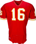 Football Collectibles:Uniforms, Early 1970's Len Dawson Game Worn & Signed Kansas City Chiefs Jersey....