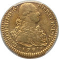 Colombia, Colombia: Charles IV gold 2 Escudos 1791 P-SF AU50 PCGS,...