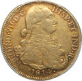 Colombia, Colombia: Ferdinand VII gold 8 Escudos 1814 NR-JF AU50 PCGS,...