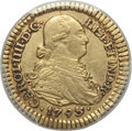 Colombia, Colombia: Charles IV gold Escudo 1793 P-JF AU50 PCGS,...