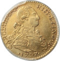Colombia, Colombia: Charles IV gold 2 Escudos 1797 NR-JJ UNC Detail (Cleaned)PCGS,...