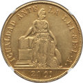 Chile, Chile: Republic gold 8 Escudos 1851 So-LA XF Details (Cleaned)NGC,...