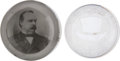 Political:3D & Other Display (pre-1896), Grover Cleveland and Benjamin Harrison: Two Fine Early Glass Paperweights.... (Total: 2 Items)