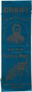 Political:Ribbons & Badges, Ulysses S. Grant: Distinctive 1872 Portrait Ribbon....