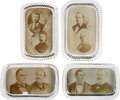 Political:3D & Other Display (1896-present), Bryan, McKinley & Theodore Roosevelt: A Collection of Four Sepia-Tone Jugate Glass Paperweights.... (Total: 4 Items)