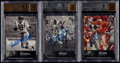 Football Cards:Lots, 1997 Upper Deck Legends Autographs BGS Graded Trio (3) - Includes Hirsch, Mitchell, & Selmon....