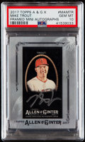 Baseball Cards:Singles (1970-Now), 2017 Topps Allen & Ginter X Mike Trout Framed Mini Autograph#MA-MTR PSA Gem Mint 10....