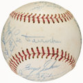 Autographs:Baseballs, 1967 Chicago Cubs Team Signed Baseball (21 Signatures)....
