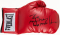 """Boxing Collectibles:Autographs, Hector """"Macho Man"""" Camacho Signed Glove. ..."""