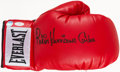 """Boxing Collectibles:Autographs, Rubin """"Hurricane"""" Carter Signed Boxing Glove. ..."""