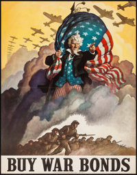 "World War II Propaganda (U.S. Government Printing Office, 1942). Folded, Very Fine+. Full-Bleed Poster (22"" X 28&qu..."