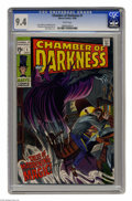Silver Age (1956-1969):Horror, Chamber of Darkness #1 (Marvel, 1969) CGC NM 9.4 White pages. JohnRomita Sr. cover. John Buscema, Tom Sutton, and Don Heck ...